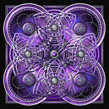 Purple and Silver Celtic Cross by Richard Barnes