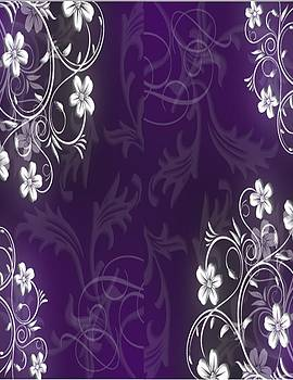 Purple and White by Shirley Fisher