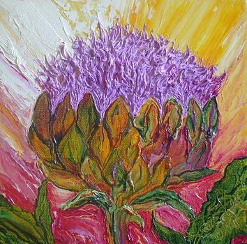 Purple Artichoke Blossom by Paris Wyatt Llanso