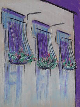 Purple Balconies by Marcia Meade