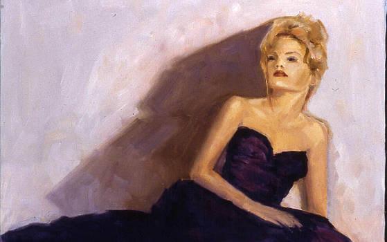 Purple Ball Gown by Deborah Alys Carter