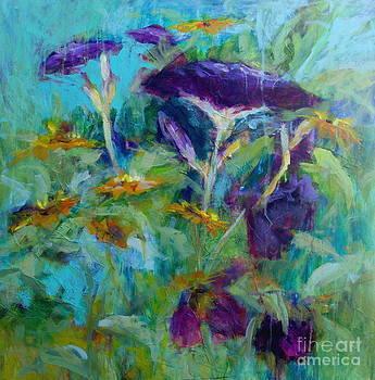 Purple Blooms by Virginia Dauth