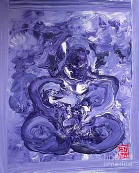 Purple Buddha by Scott Shaw