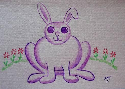 Purple Bunny by Joann Renner