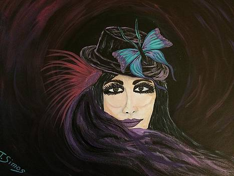 Purple Butterfly by Theresa Simos