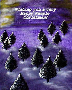 Purple Christmas by Sandy Wager
