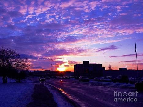 Purple City Sunset by Ausra Huntington nee Paulauskaite