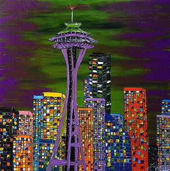 Purple Colors Of Emerald City by Portland Art Creations