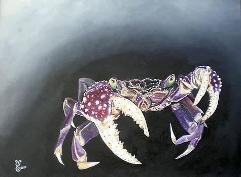 Purple Crab by Yabette Swank
