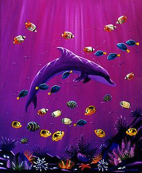 Purple Dolpins by Lance Headlee
