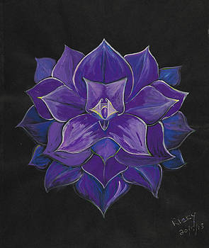 Purple flower - painting by Veronica Rickard