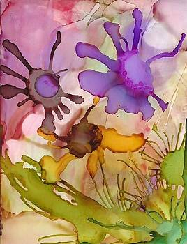 Purple Flowers by Annette Bingham