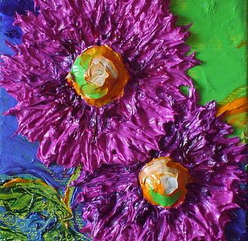 Purple Flowers by Paris Wyatt Llanso