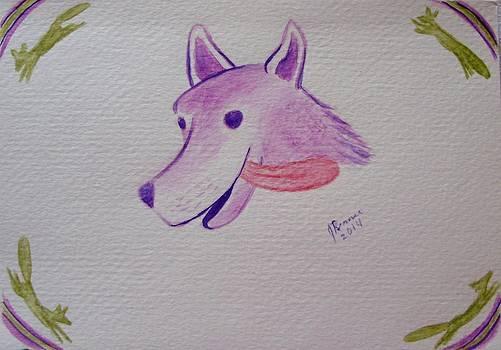 Purple Fox by Joann Renner