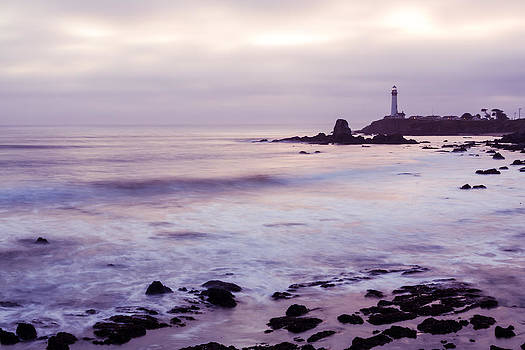 Priya Ghose - Purple Glow At Pigeon Point Lighthouse