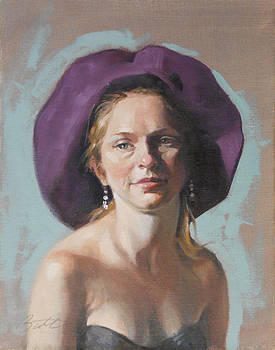 Purple Hat by Todd Baxter