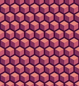 Purple Hexagonal Pattern by Mike Taylor