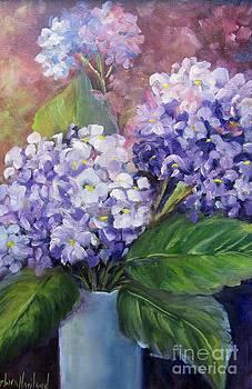 Purple Hydrangeas by Barbara Haviland