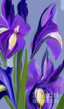 Purple Irises by Mahnaz Ahmed