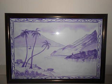 Purple Landscape by Amrita Ludhwani