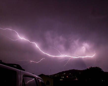 Purple lightning by Rick Colby