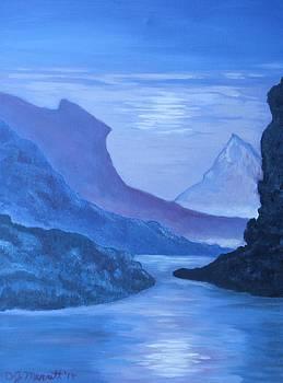 Purple Mountain Sunset by Dorothy Merritt