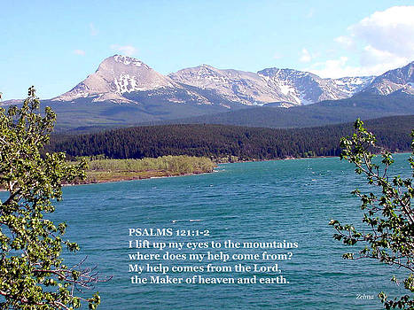 Purple Mountains with Scripture by Zelma Hensel