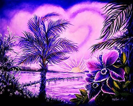 Purple Palm by Yolanda Rodriguez