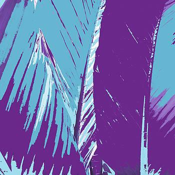 Purple Palms by Rosie Brown