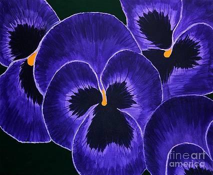 Barbara Griffin - Purple Pansies Dark Faces