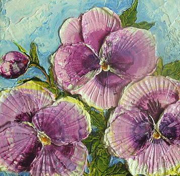 Purple Pansies by Paris Wyatt Llanso