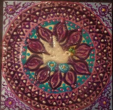 Purple Peace Mandala by Amy Hassan