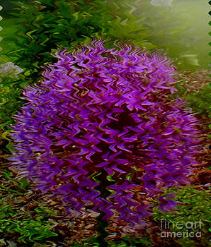 Purple Puff Flower by Lewanda Laboy