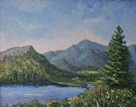 Purple Rockies by Rollande Rousselle