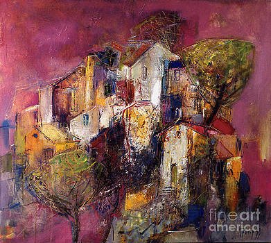 Purple Skies Over the Hill by Grigor Malinov