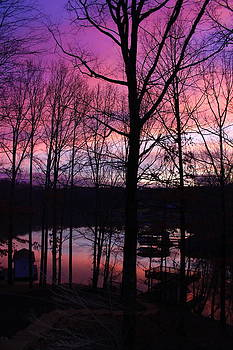 Jennifer Lamanca Kaufman - Purple sunset on Smith Mt. Lake