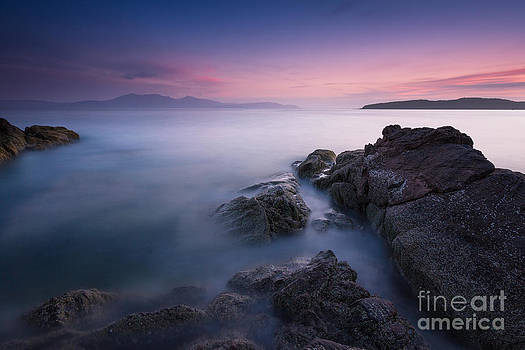 Purple Sunset with Arran Views by Fiona Messenger