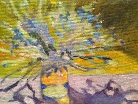 Purple Table Mason Jar by Molly Fisk