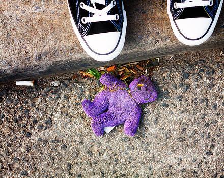 Purple Teddy Bear by Mary  Smyth