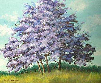 Purple Tree by JoAnn Morgan Smith