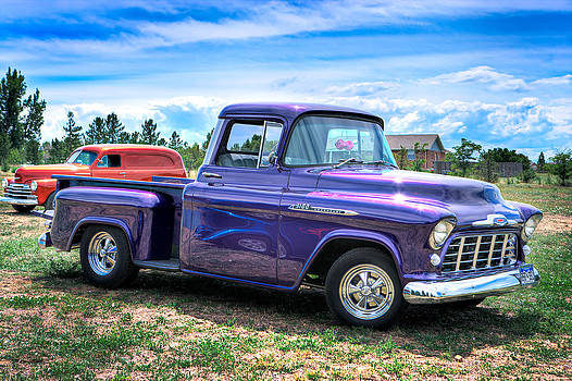 Purple Vintage Truck by James O Thompson