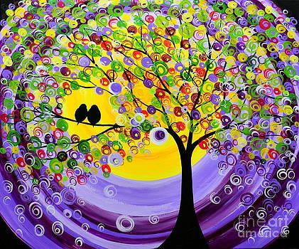Purple-violet harmony by Mariana Stauffer