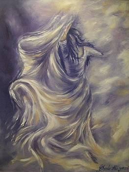 Purple waves by Ghada Ali yousri