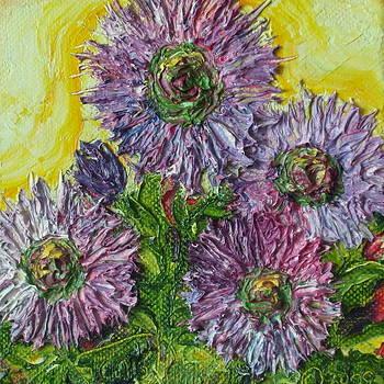 Purple Wild Bergamont Flowers by Paris Wyatt Llanso