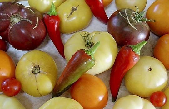 Brian King - Purple Yellow Orange Tomatos and Chiles