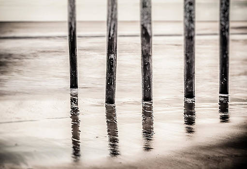 Pylons In Black And White by Steve Stanger