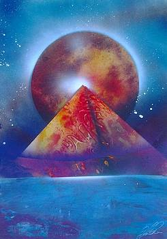 Pyramid and space spray painting - Pharaohs are back by Gianluca Cremonesi