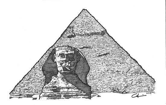 Pyramid and Sphinx by Calvin Durham