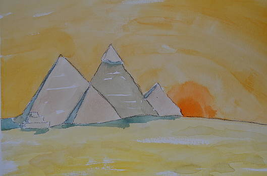 Pyramid at Sunrise by James Cox