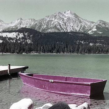 Linda Rae Cuthbertson - Pyramid Lake Jasper National Park Alberta Canada Vintage Photo